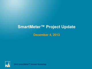 SmartMeter™ Project Update December 4, 2013