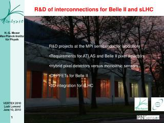 R&D of interconnections for Belle II and  sLHC