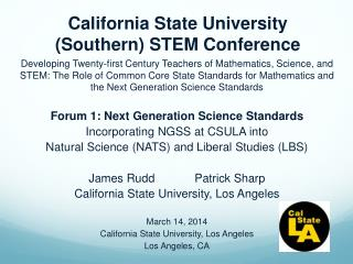 California  State University (Southern) STEM Conference