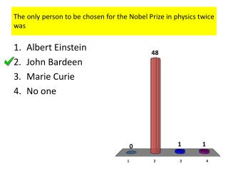The only person to be chosen for the Nobel Prize in physics twice was