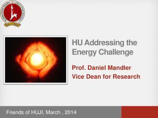 HU Addressing the  Energy Challenge