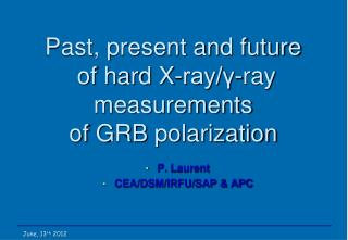 Past, present and  future of hard X-ray/γ-ray measurements of  GRB  polarization