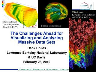 The Challenges Ahead for Visualizing and Analyzing Massive Data Sets