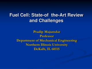 Fuel  Cell:  State-of  the-Art Review and Challenges