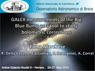 GALEX  measurements of  the Big  Blue Bump as  a  tool to study bolometric corrections