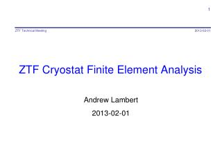 ZTF Cryostat Finite Element Analysis