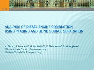 Analysis of diesel engine  combustion  using  imaging and blind  source  separation
