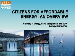Citizens for Affordable Energy: An Overview
