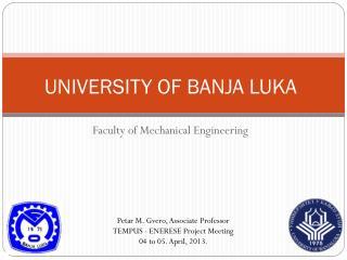 UNIVERSITY OF BANJA LUKA
