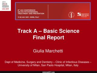 Track A – Basic Science Final Report