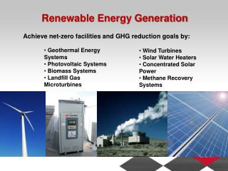 Renewable Energy Generation