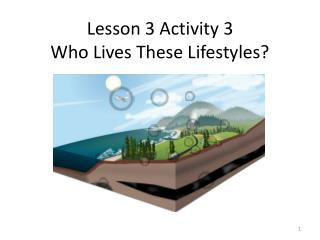 Lesson 3 Activity 3 Who Lives These Lifestyles?