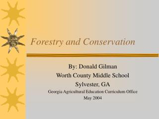 forestry and conservation