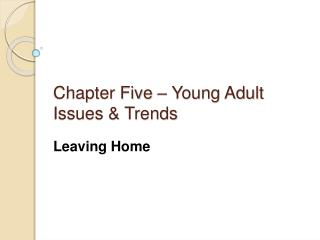 Chapter Five – Young Adult Issues & Trends