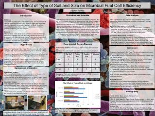The Effect of Type of Soil and Size on Microbial Fuel Cell Efficiency
