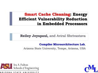 Smart Cache Cleaning : Energy Efficient Vulnerability Reduction  in Embedded Processors
