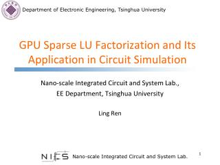 GPU Sparse  LU Factorization and Its Application in Circuit Simulation