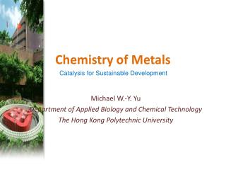 Chemistry of Metals