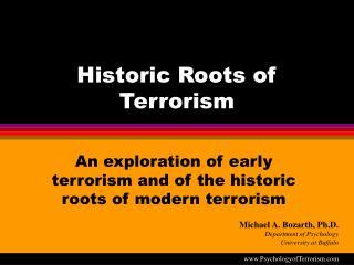 historic roots of terrorism