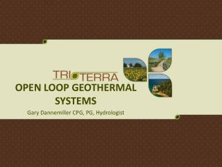 open loop geothermal systems