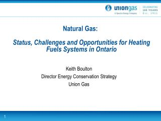 Natural Gas: Status, Challenges and Opportunities for Heating Fuels Systems in Ontario