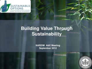 NAREIM  A&E Meeting September 2012