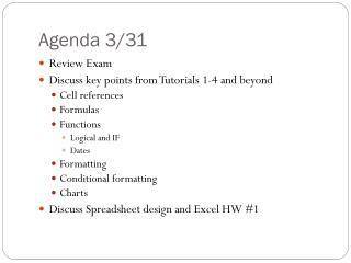 Agenda  3 /31
