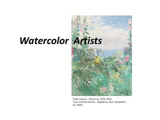 Watercolor  Artists