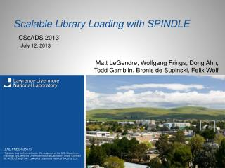 Scalable Library Loading with SPINDLE