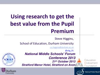 Using research to get the best value from the Pupil Premium