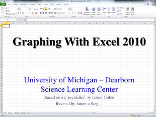 Graphing With Excel 2010