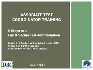 ASSOCIATE Test Coordinator Training