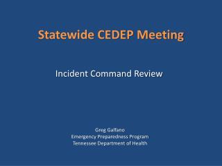 Statewide CEDEP Meeting
