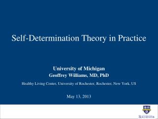 Self-Determination Theory in Practice