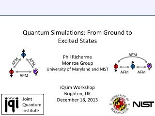 Quantum Simulations: From Ground to Excited States