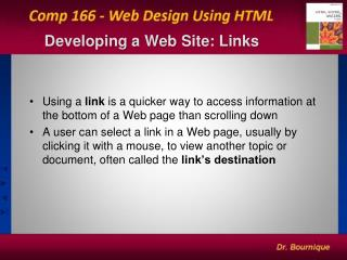 Developing a Web Site: Links