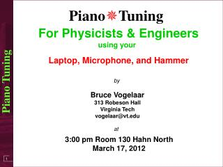 For Physicists & Engineers using your