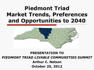 Piedmont Triad  Market Trends, Preferences  and Opportunities to 2040