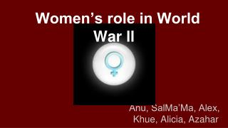 Women's role in World War ll