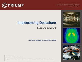 Implementing  Docushare