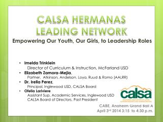 Empowering Our Youth, Our Girls, to Leadership Roles