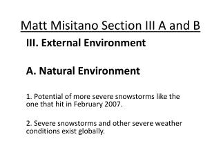 Matt Misitano Section III A and B