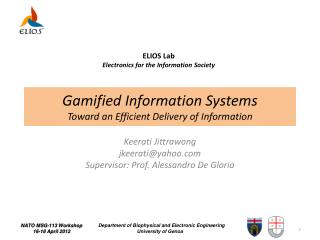 Gamified  Information Systems  Toward an Efficient Delivery of  Information