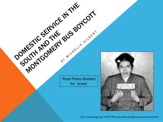Domestic Service in the South and the Montgomery Bus  BoyCott