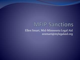 MFIP Sanctions