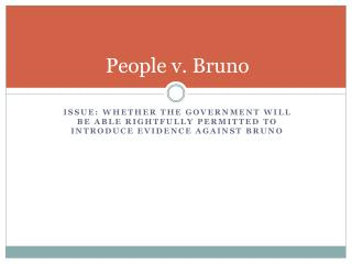 People  v . Bruno