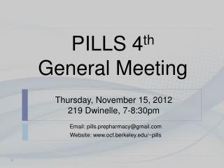Thursday, November 15, 2012 219  Dwinelle , 7-8:30pm