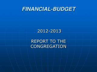 FINANCIAL-BUDGET