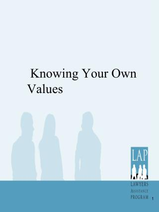 Knowing Your Own Values