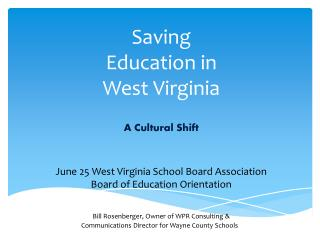 Saving Education in West Virginia